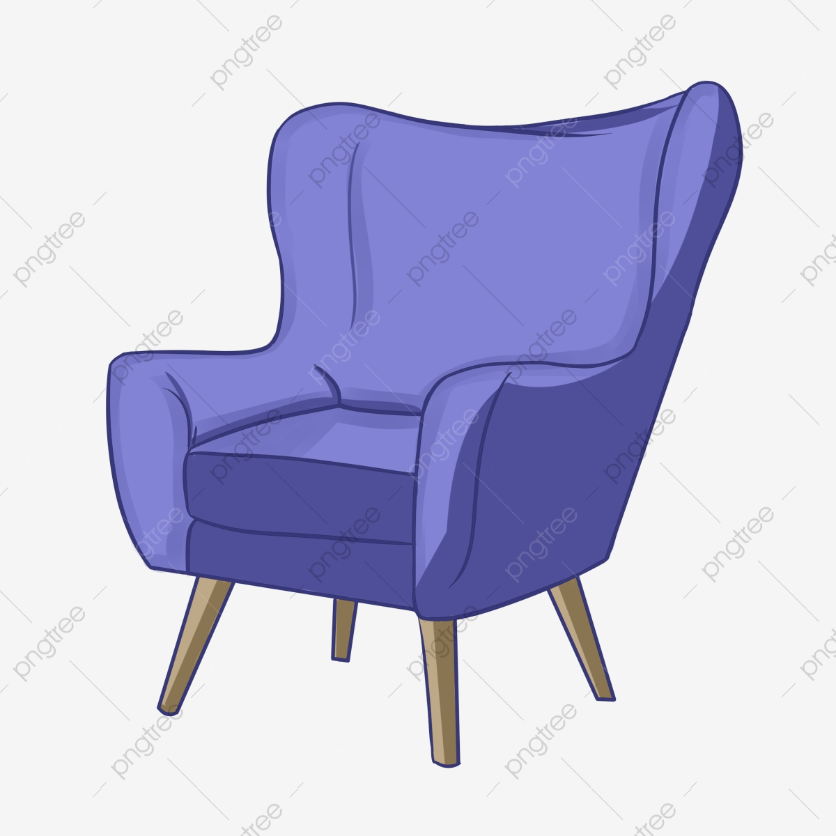 Sofa Chair Cartoon Furniture Furniture Chair Sofa Png