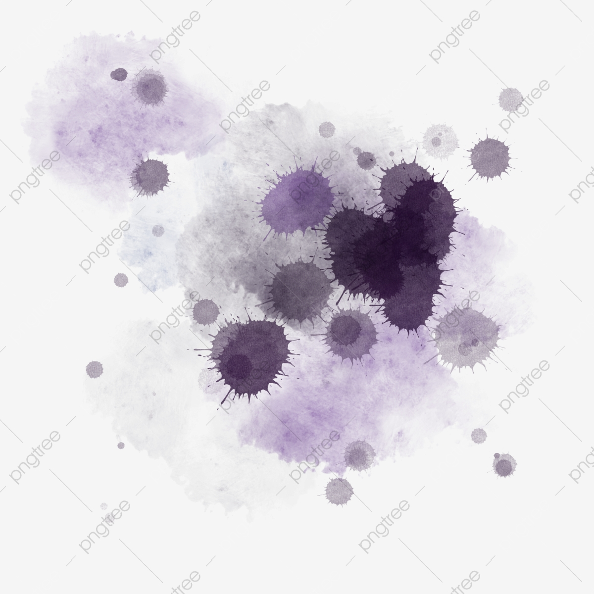 Splattered Ink Decorative Illustration Splashed Ink Ink Decoration Ink Png Transparent Clipart Image And Psd File For Free Download