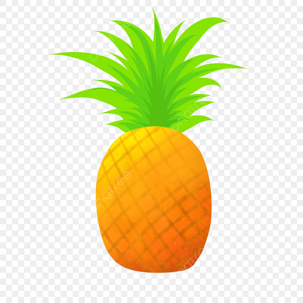 été Fruit Ananas Dessin Animé Fruit été Dessin Animé