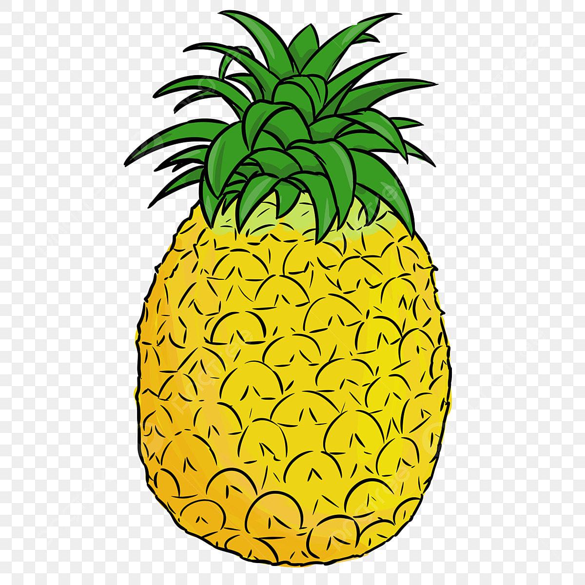 été été Ananas Fruit Ananas Dessin Animé Dété Fichier