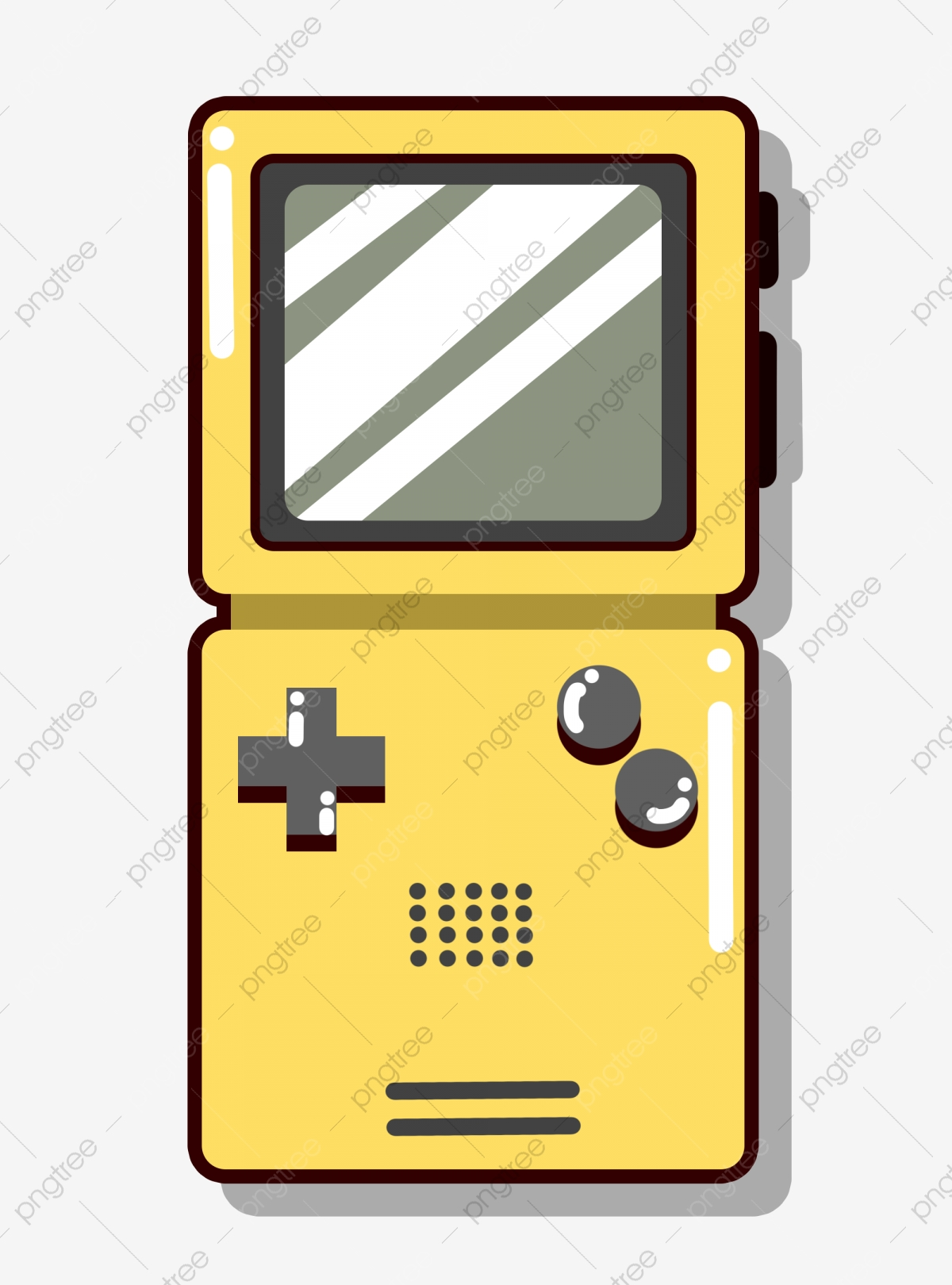 Tetris Game Console Yellow Square Game Console Png Transparent Clipart Image And Psd File For Free Download