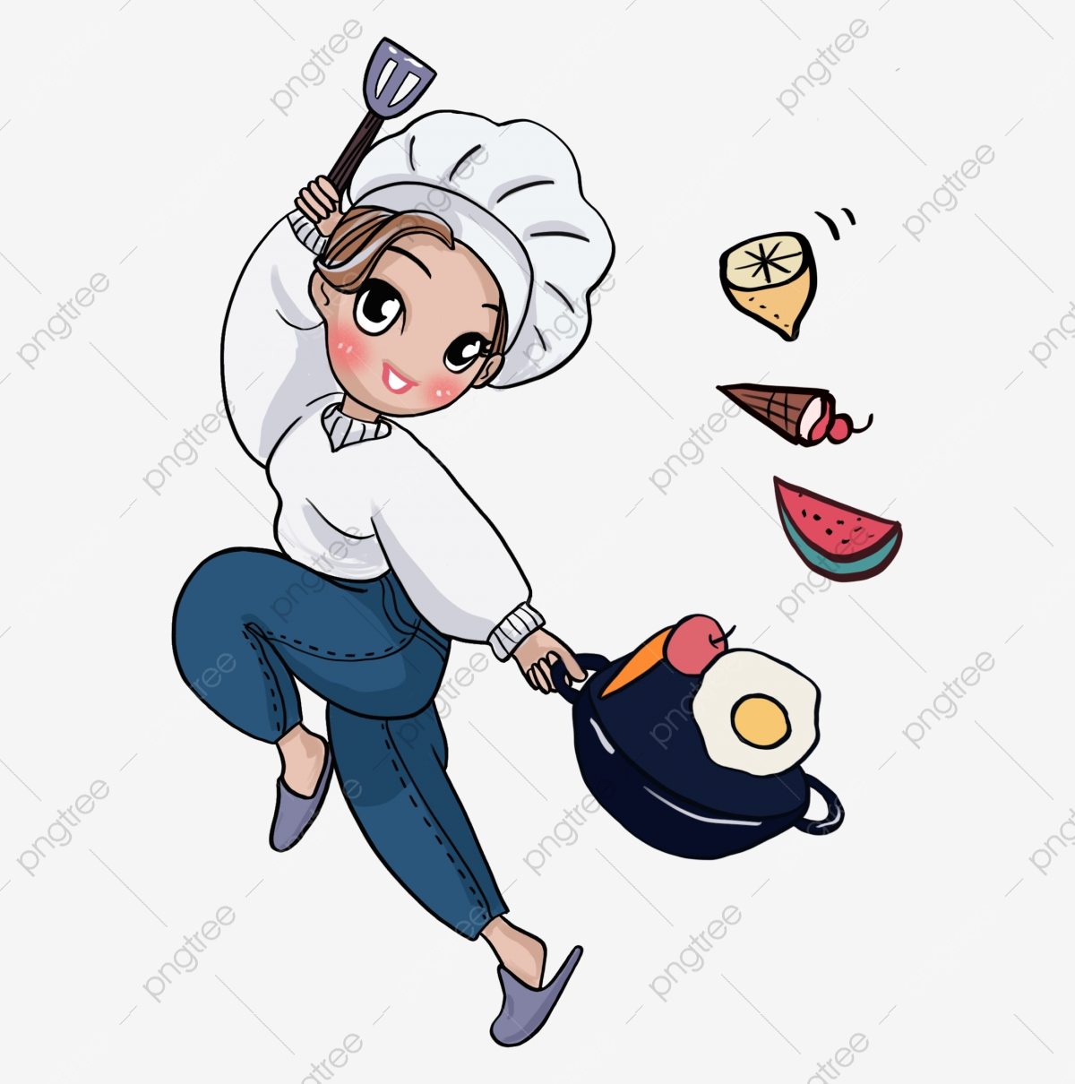 Food Clip Art of a Male Chef Stirring a Silver Pot of Soup with a Large  Stick by djart - #590