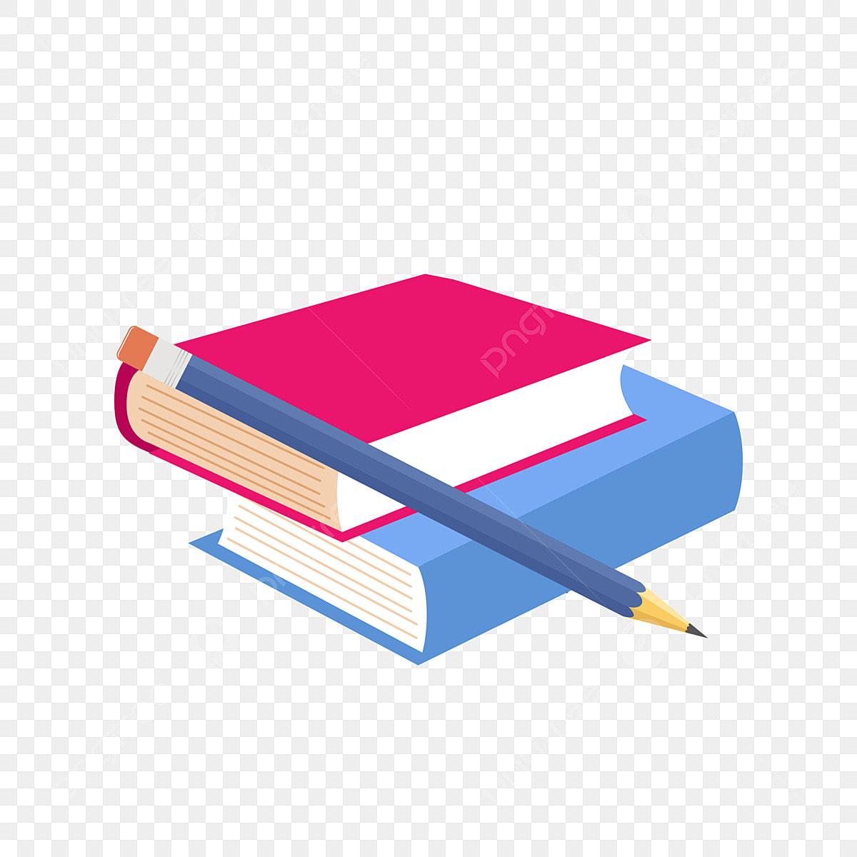كتاب أحمر كتاب أزرق كتب دراسة قلم رصاص أزرق كتاب أزرق زخرفة قلم Png والمتجهات للتحميل مجانا