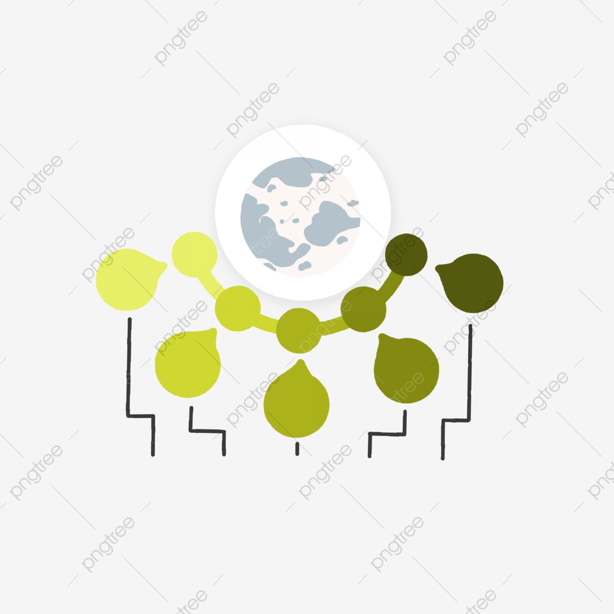 Couleur Chaude Globe Classification Separation Simple Dessin