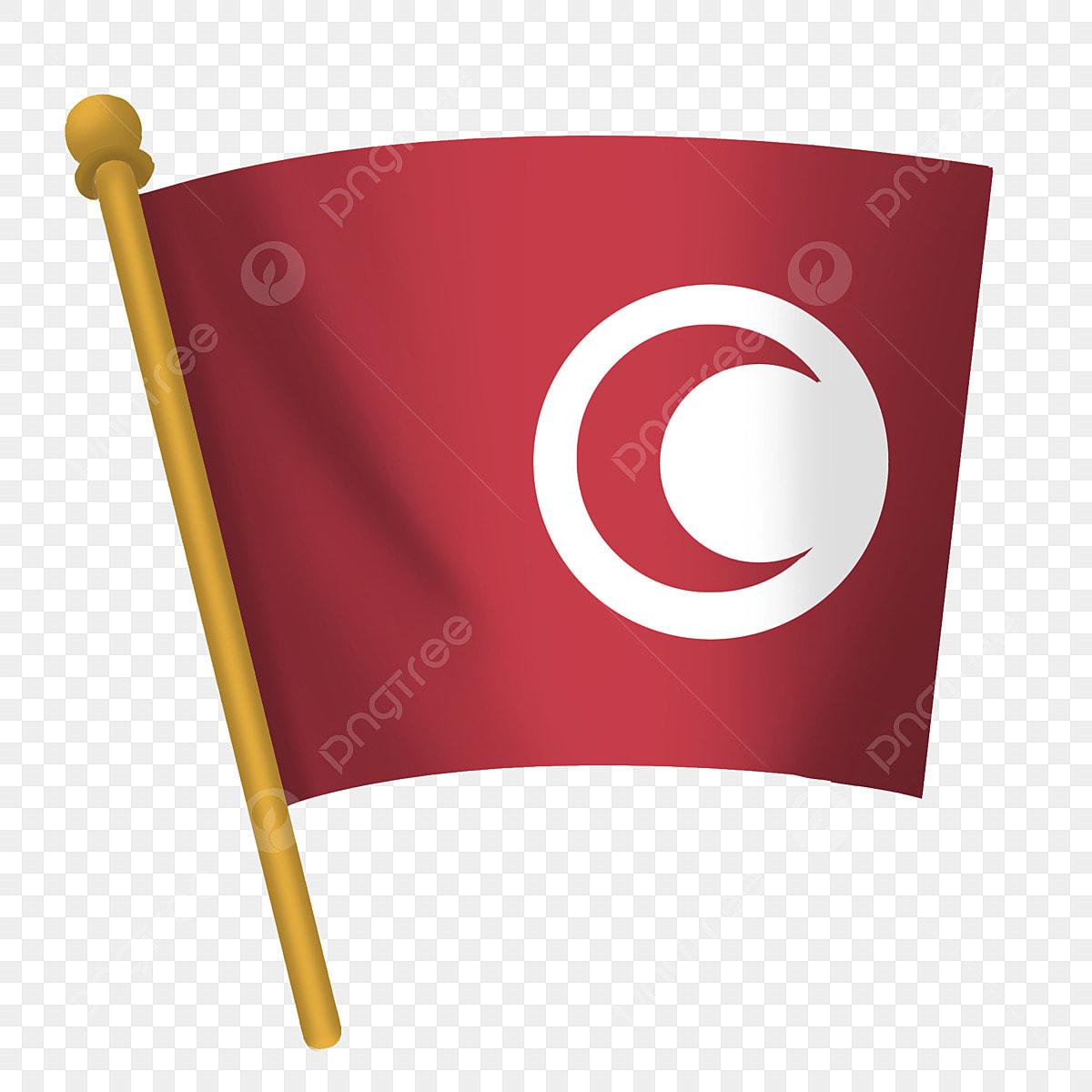Gambar Bulatan Putih Bendera Merah Kartun Bendera Merah Perayaan Musim Bunga Sambutan Bendera Melambai Bendera Merah Png Dan Psd Untuk Muat Turun Percuma