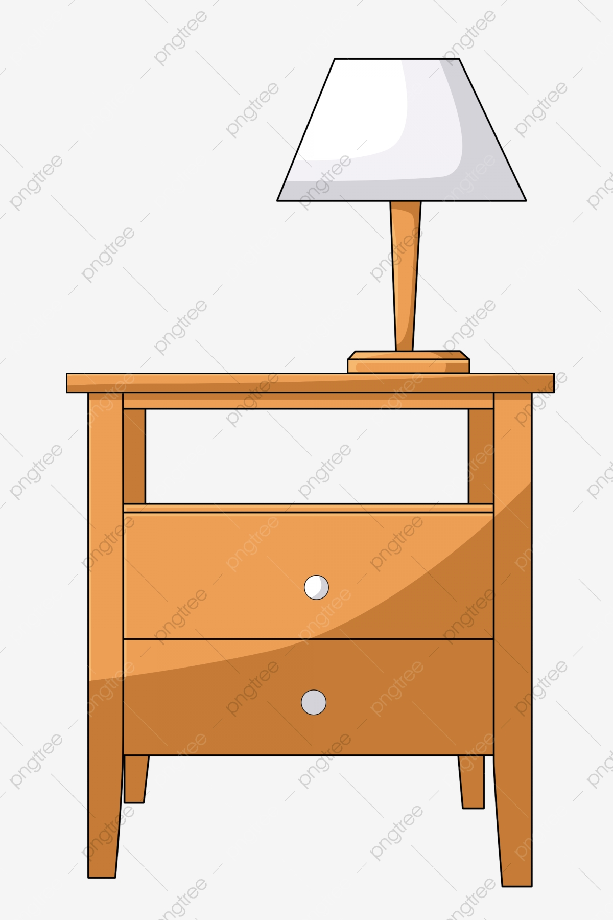 Picture of: Yellow Bedside Table Decoration Table Lamp Wood Furniture Png Transparent Clipart Image And Psd File For Free Download