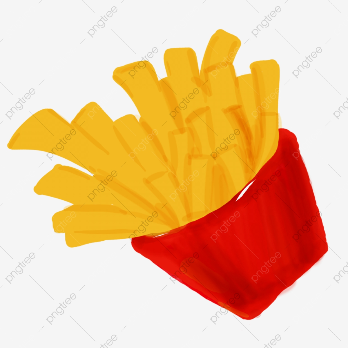 Yellow Fries Free Illustration Mcdonald S Delicious Cartoon Hand
