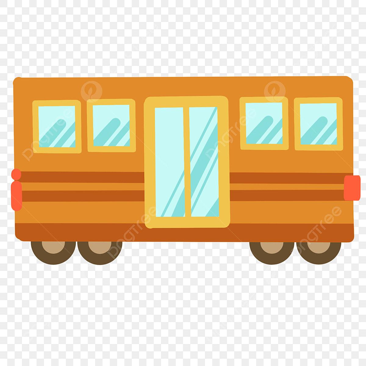 Autobus Scolaire Jaune Illustration De Dessin Animé