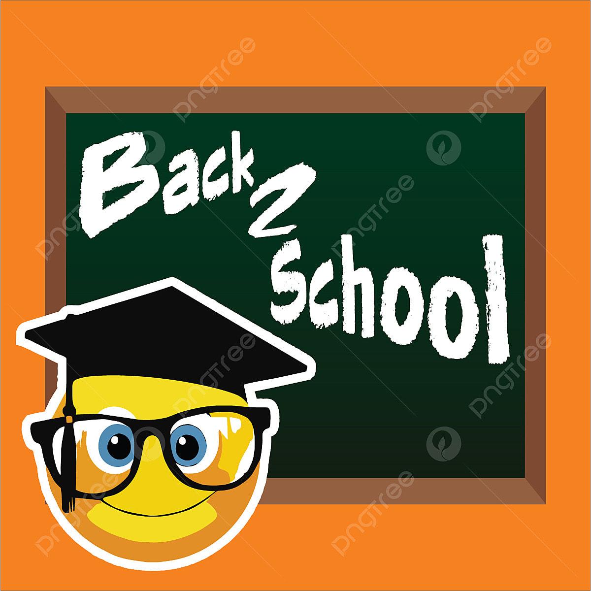 Smiley Qui Instruit A Lecole Academic Banner Livre Png Et