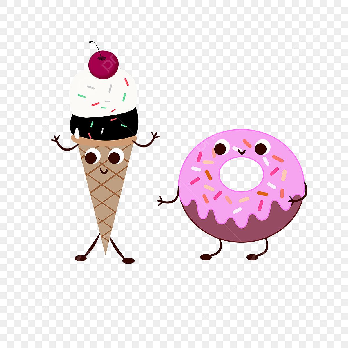 Joli Dessin La Personnification De La Glace De Donuts Elements