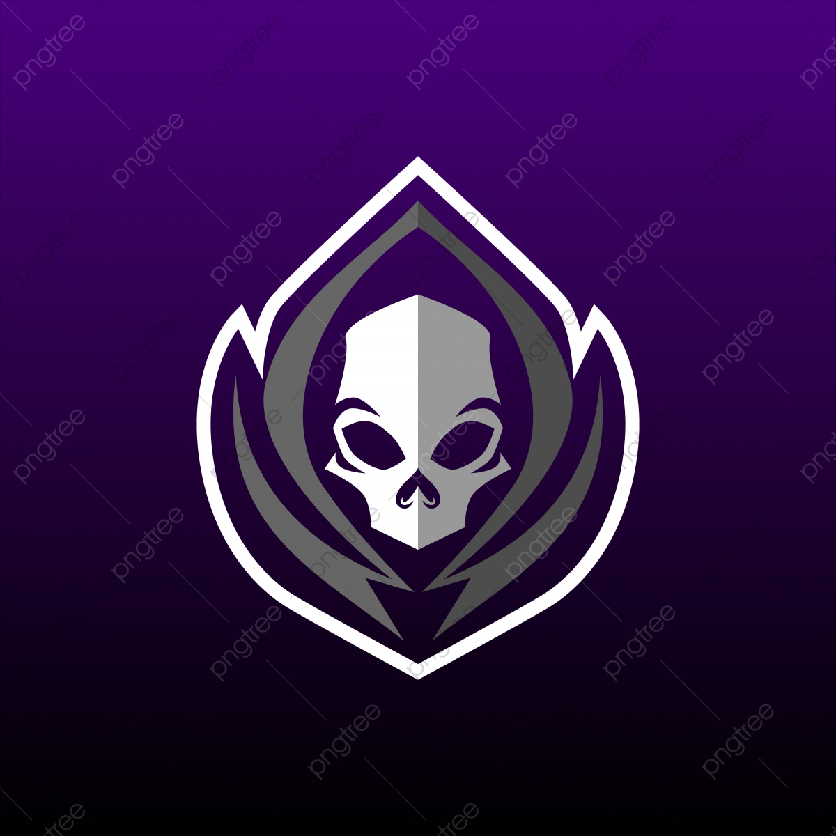 Grim Reaper Gaming Mascot Logo Design Logo Icons Sport Character Png And Vector With Transparent Background For Free Download