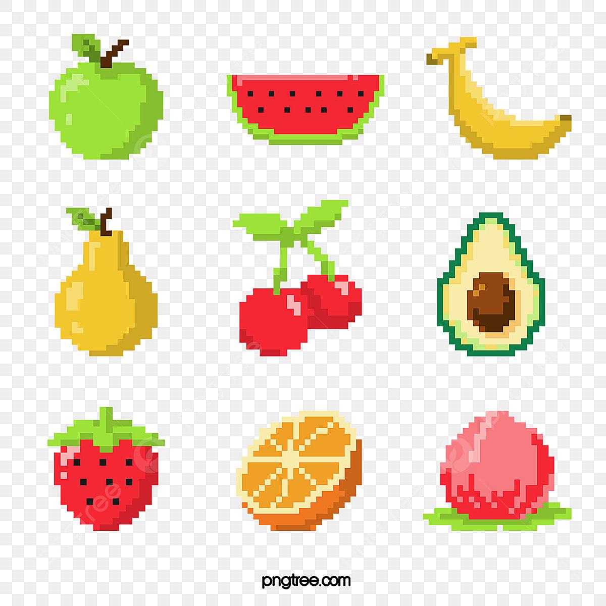 Massek Pixel Fruit Assemblage Pixel Pêche Poire Fichier