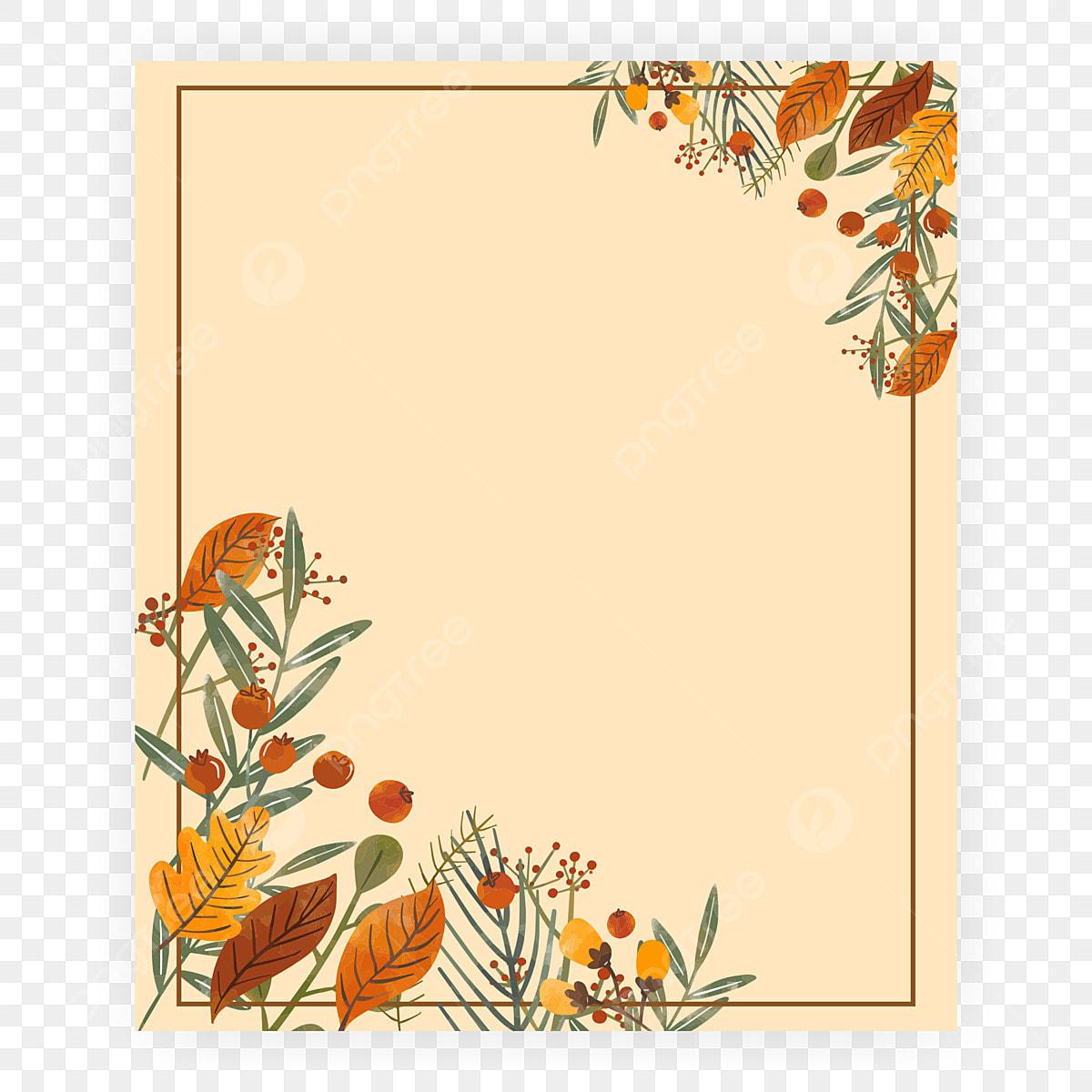 Autumn Flowers Frame For Wedding Invitation Card Frame