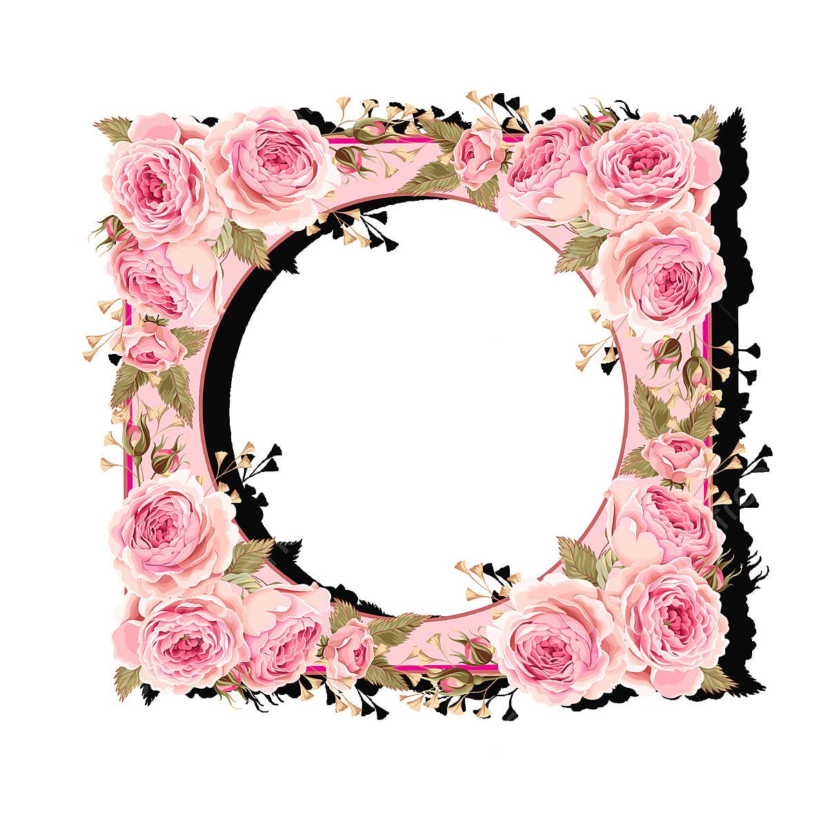Gambar Bingkai Warna Bunga Merah Jambu