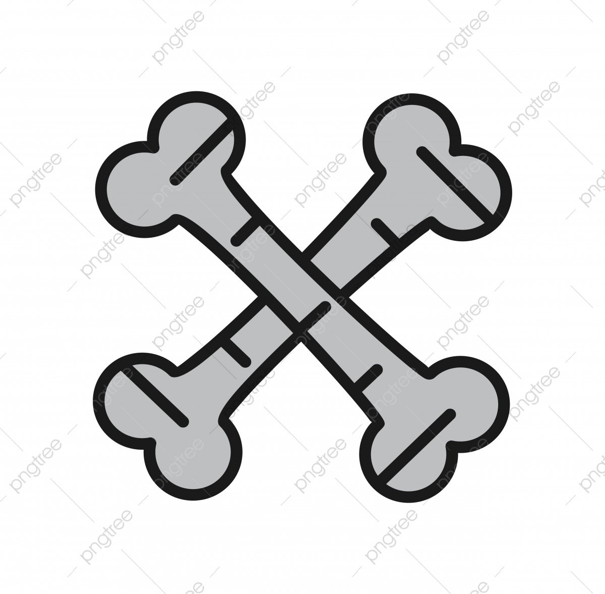 Bones Icon For Your Project Project Icons Bones Cross Bones Png And Vector With Transparent Background For Free Download