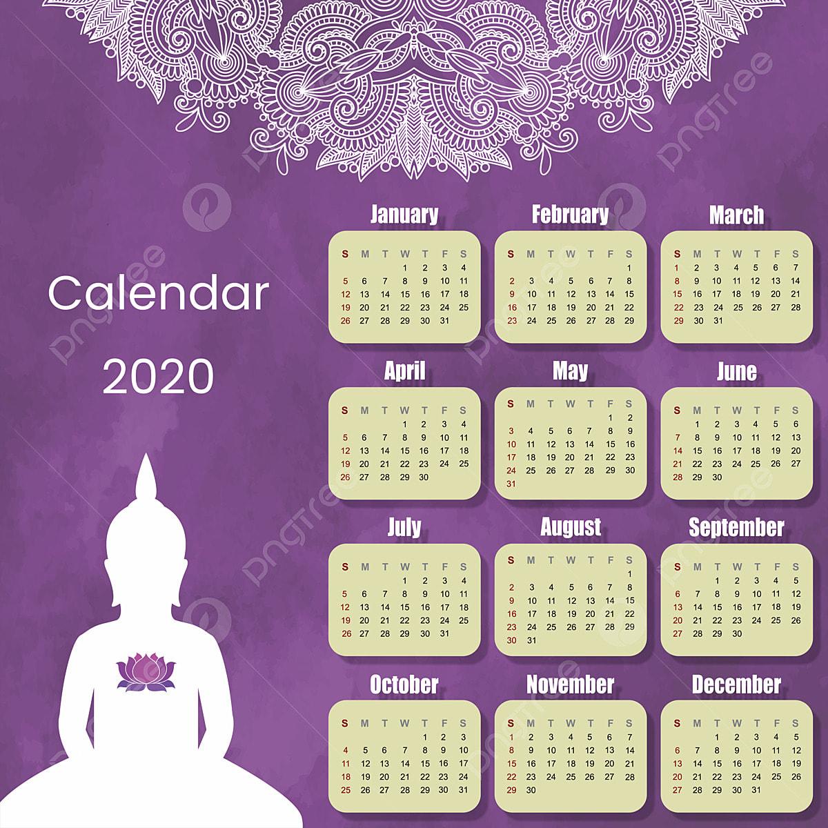 Calendario 2020 Mandala Y Buda Frase Del Calendario Buda