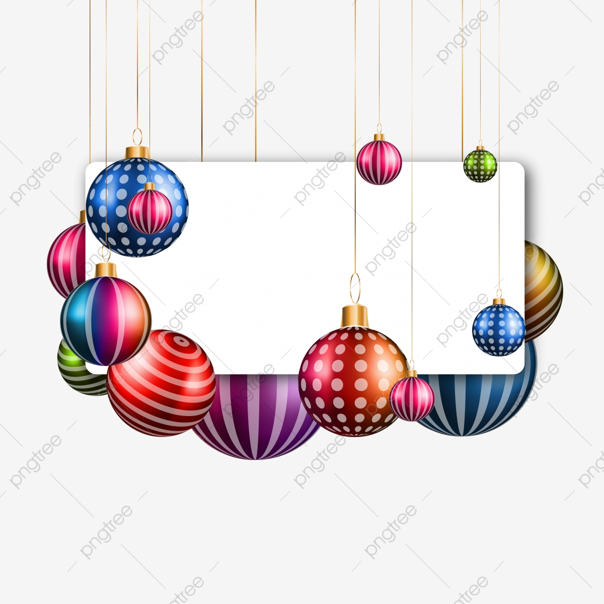 Boule De Noël Coloré Suspendu Illustration Insigne De Vecteur