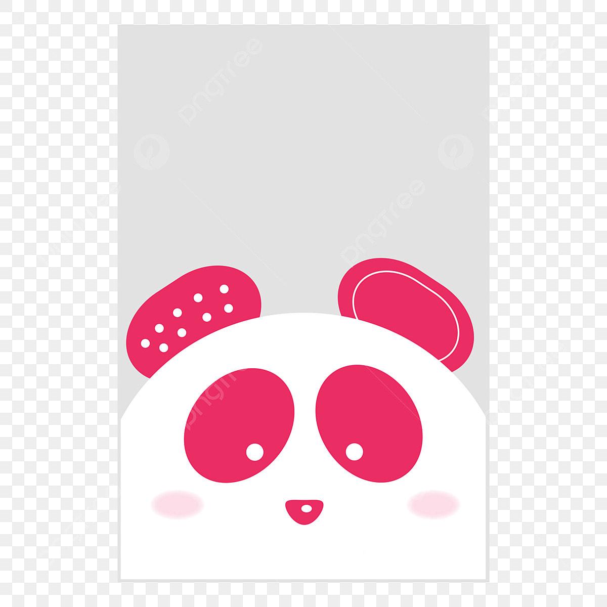 Susser Rosa Panda Panda Suss Pink Png Und Vektor Zum Kostenlosen