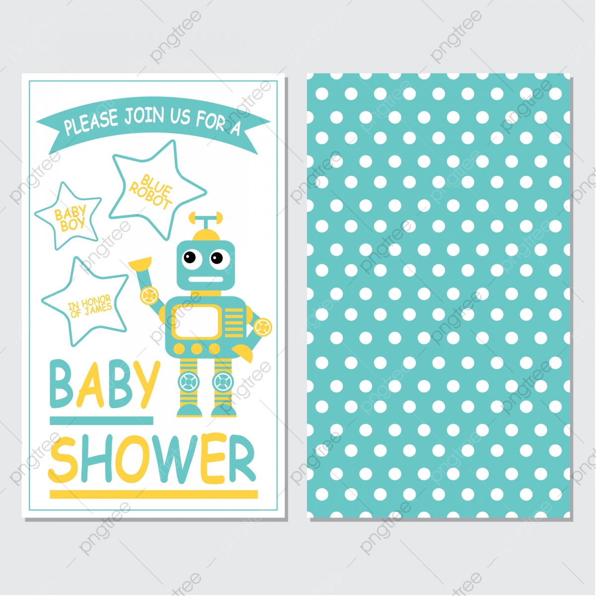 Cute Robot Boy On Blue Color Background Cartoon Illustration