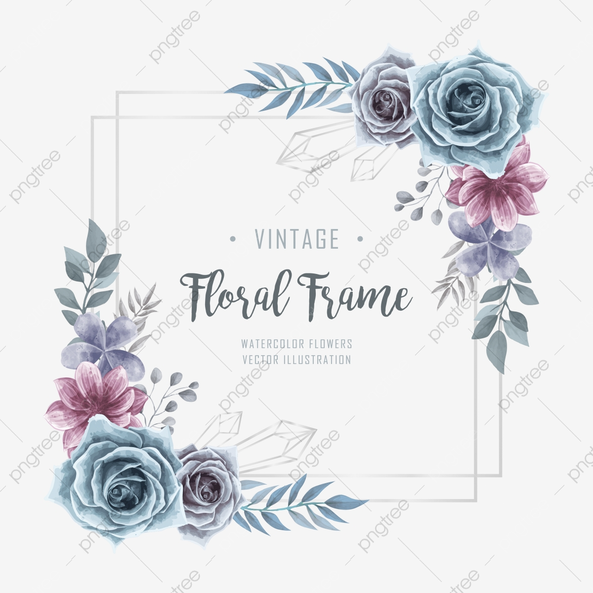 Flower Frame Png Images Vector And Psd Files Free Download On Pngtree