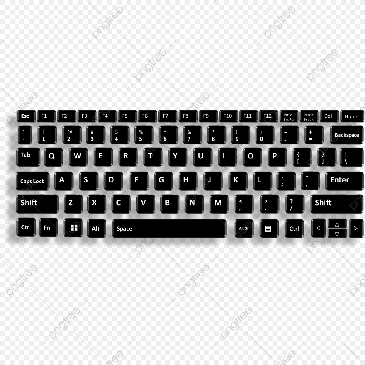 Full Keyboard Key Keyboard Key Keyboard Png And Vector With Transparent Background For Free Download