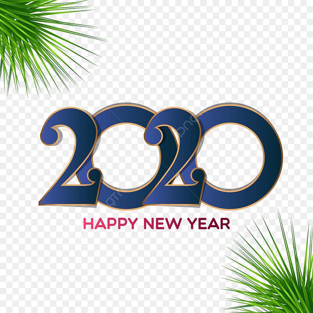 Conception De Carte De Voeux Bonne Année 2020, Nouvelle ...