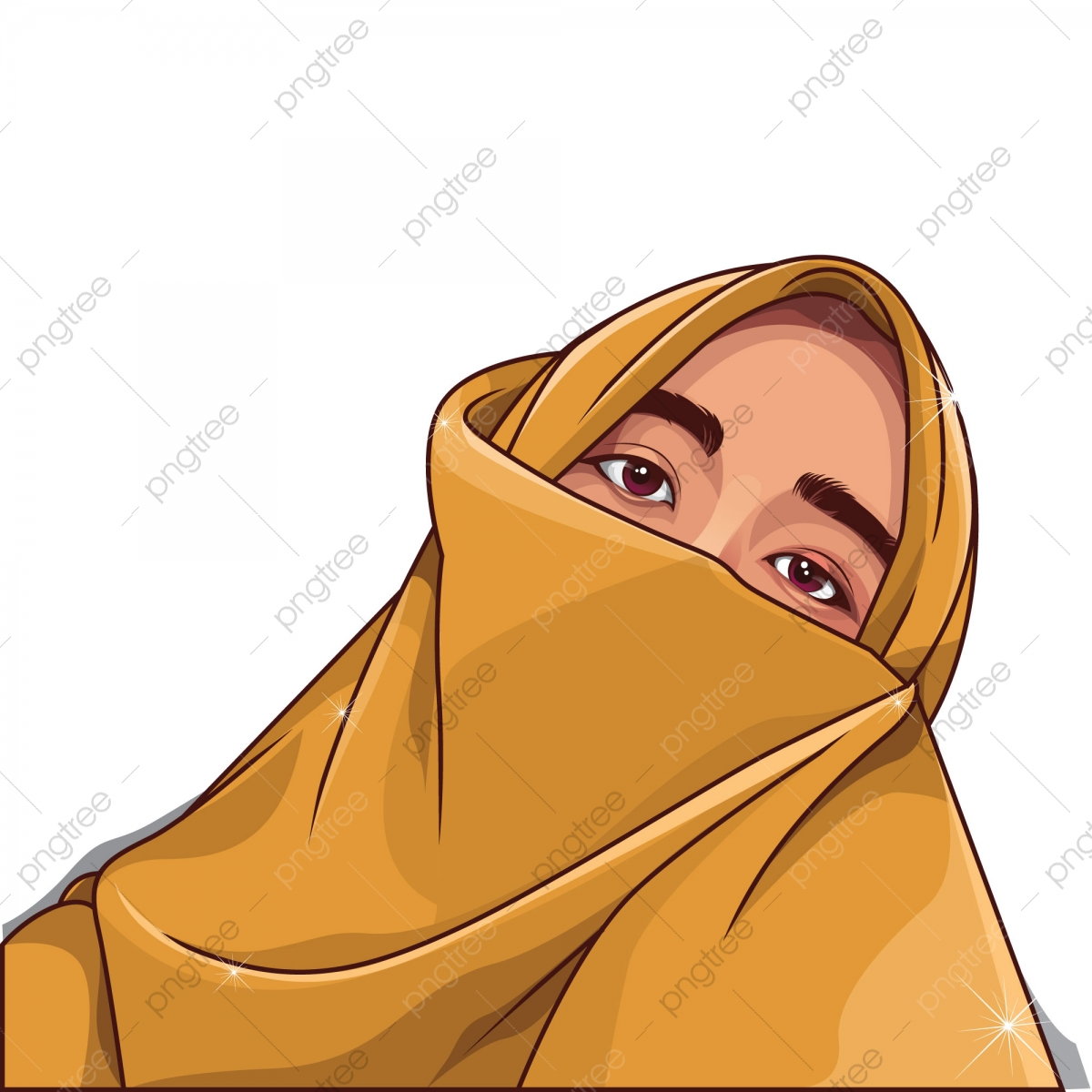 Siluet Hijab PNG Vector And PSD Files