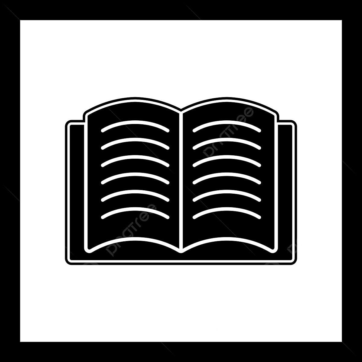 Icone Representant Un Livre Ouvert Sur Fond Isole Style