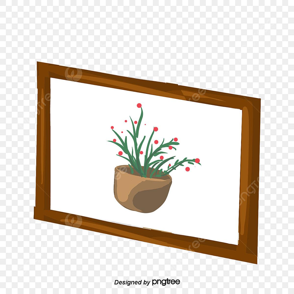 Pot Plante En Bois plante en pot en bois cadre photo cadre peinture murale