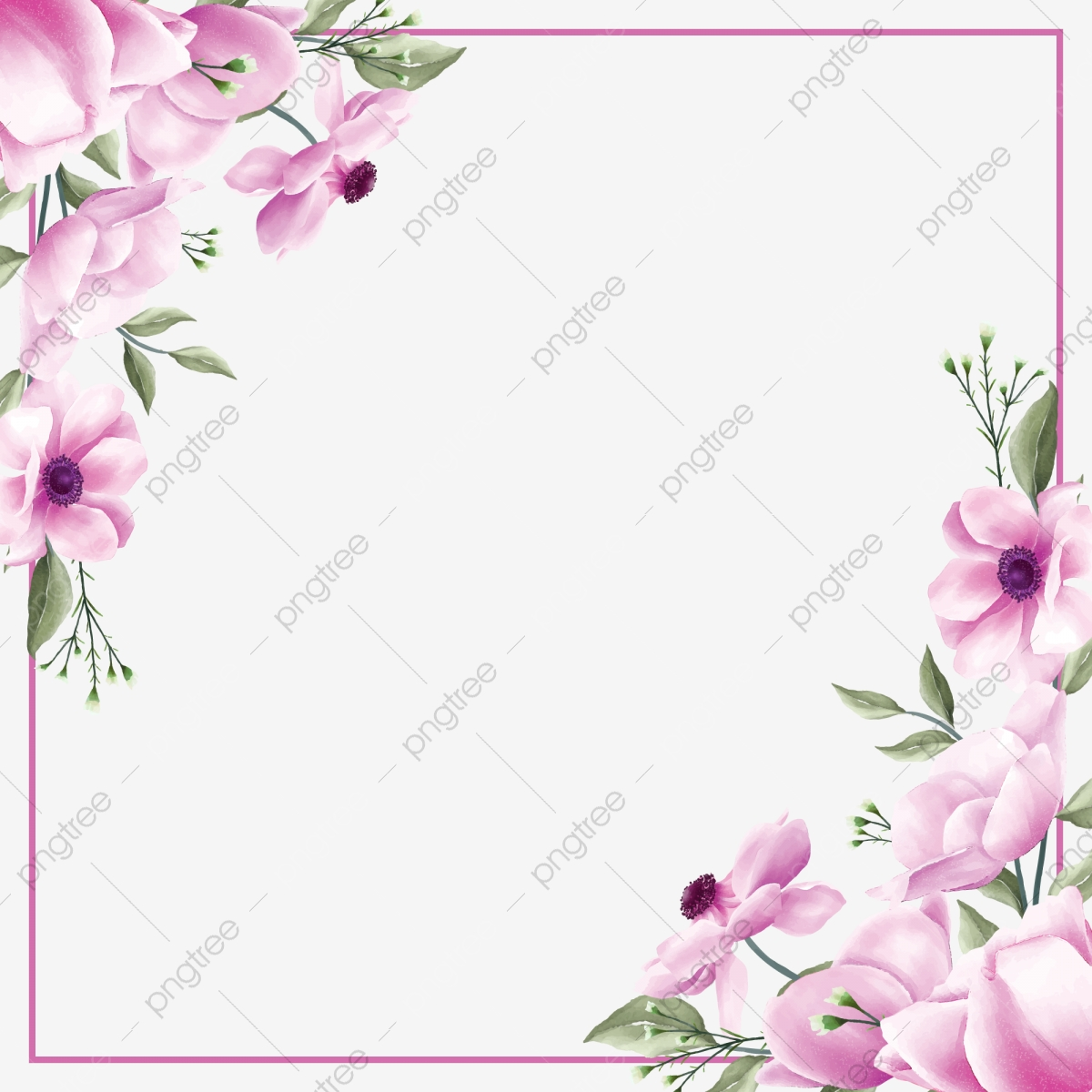 Romantic Purple Flowers Frame For Wedding Cards, Wedding, Invitation, Invite  PNG and Vector with Transparent Background for Free Download