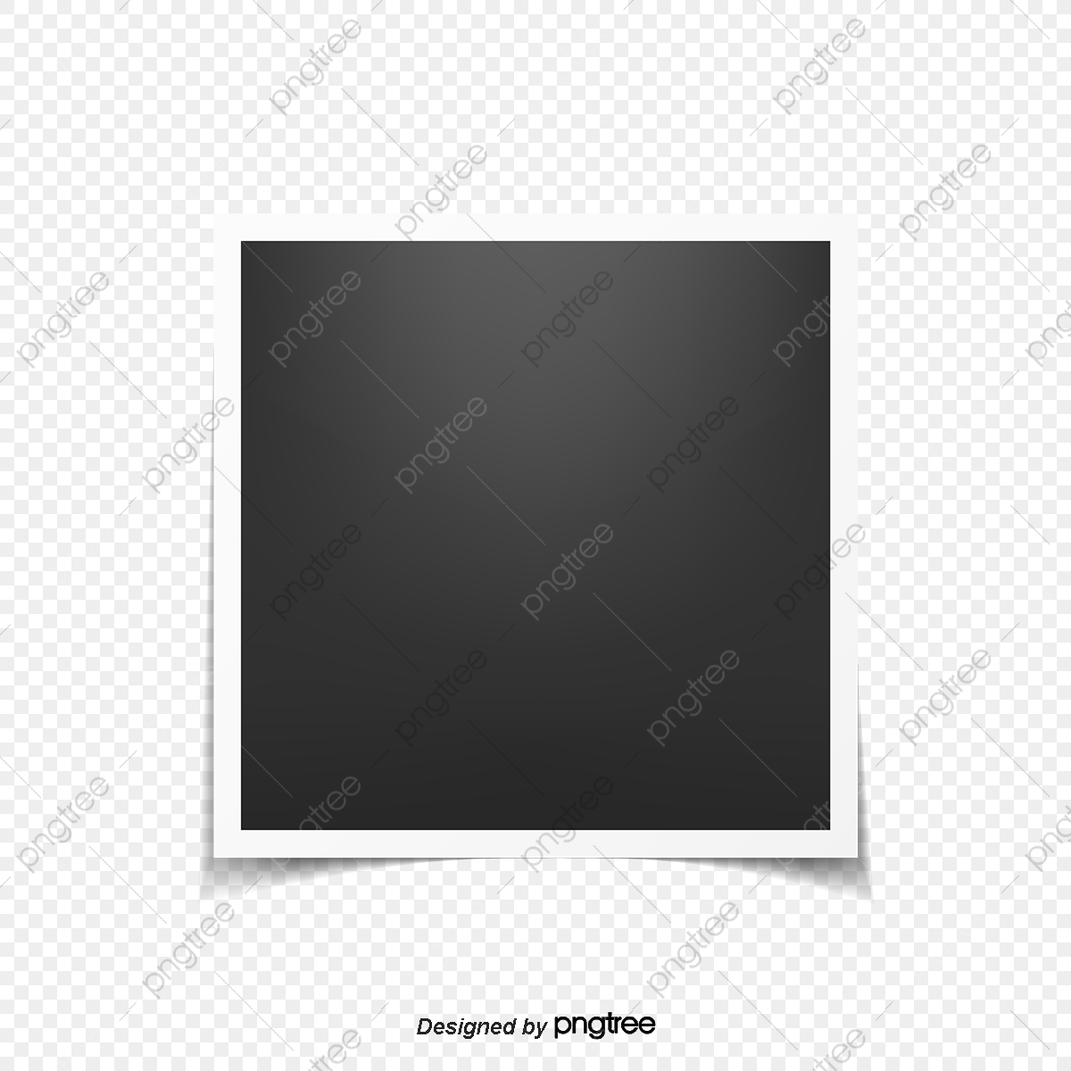 Simple White Border Photo Frame Creative Element Simple White Edge Photo Frame Png And Vector With Transparent Background For Free Download