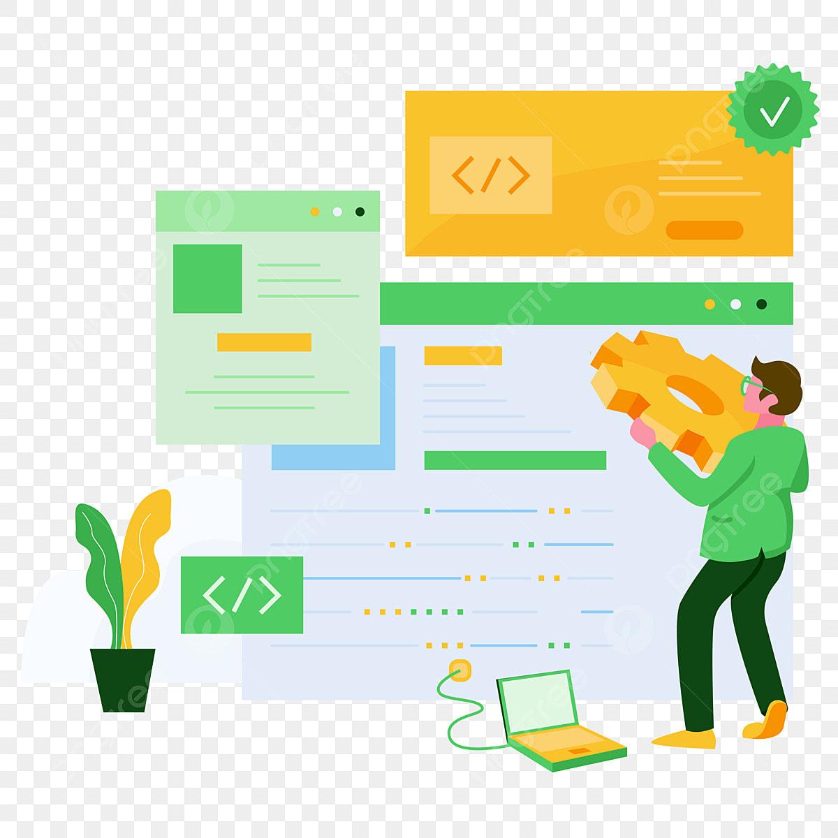 Software Developer Illustration Concept Modern Flat Design Concept Of Web Page Design For Website And Mobile Website Vector Illustration Software Web Coding Png And Vector With Transparent Background For Free Download