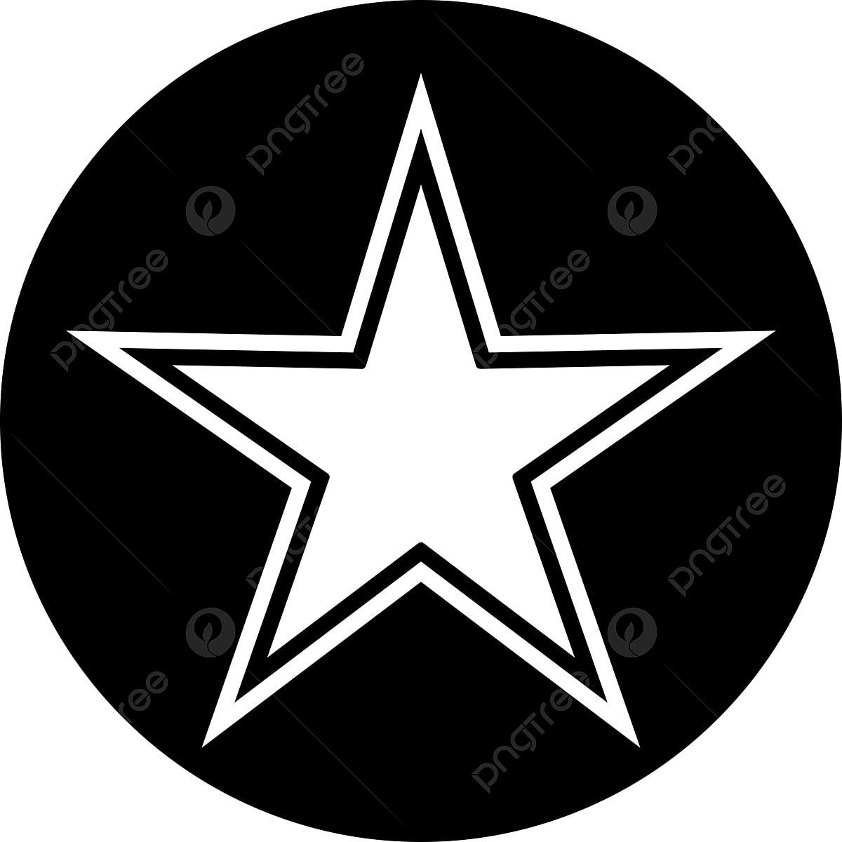 звезда в круге вектор
