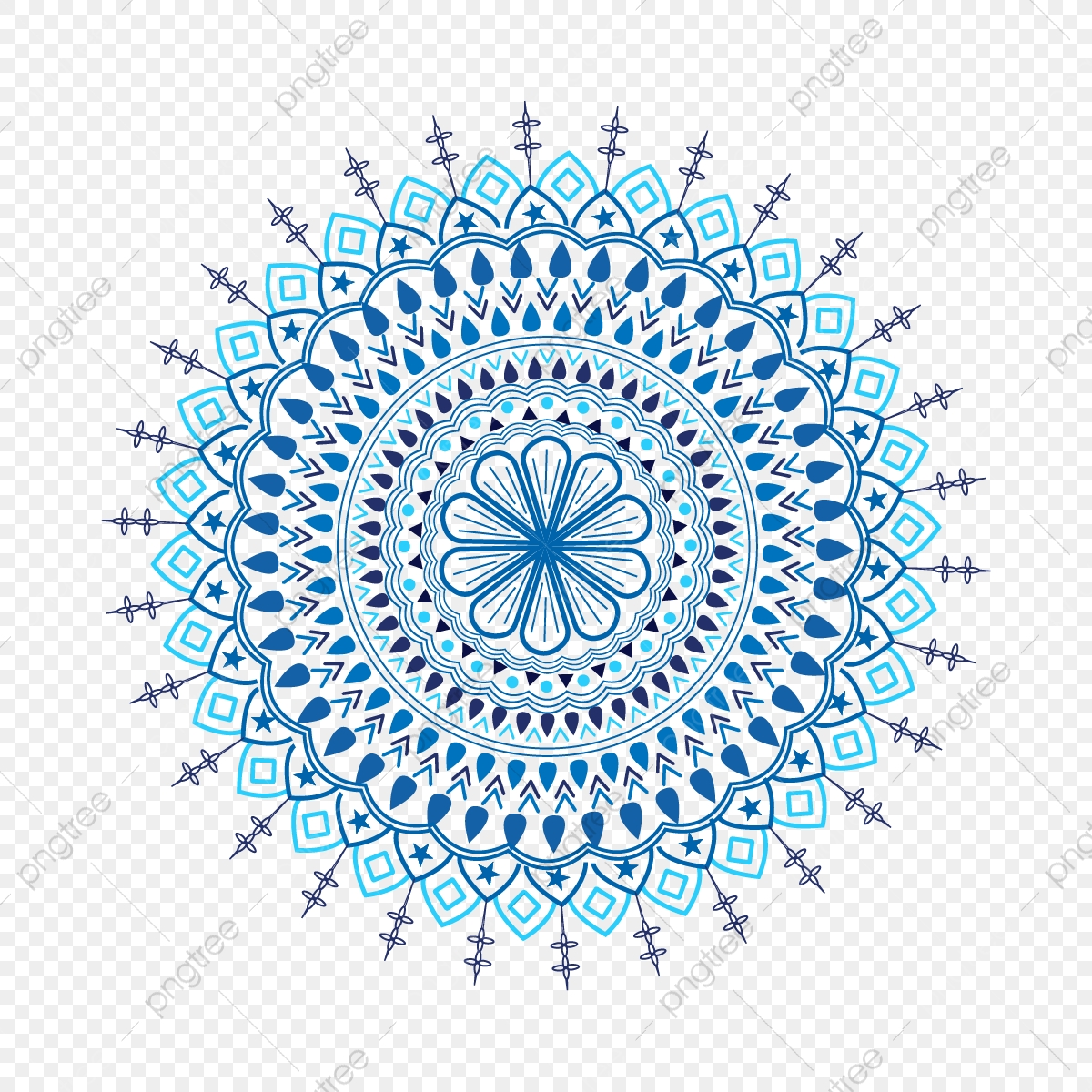 Arabic Mandala Circle Pattern Illustration Of Decorative Floral Islamic Vector Design Spanish Pattern Bohemian Pattern Graphic Pattern Png And Vector With Transparent Background For Free Download