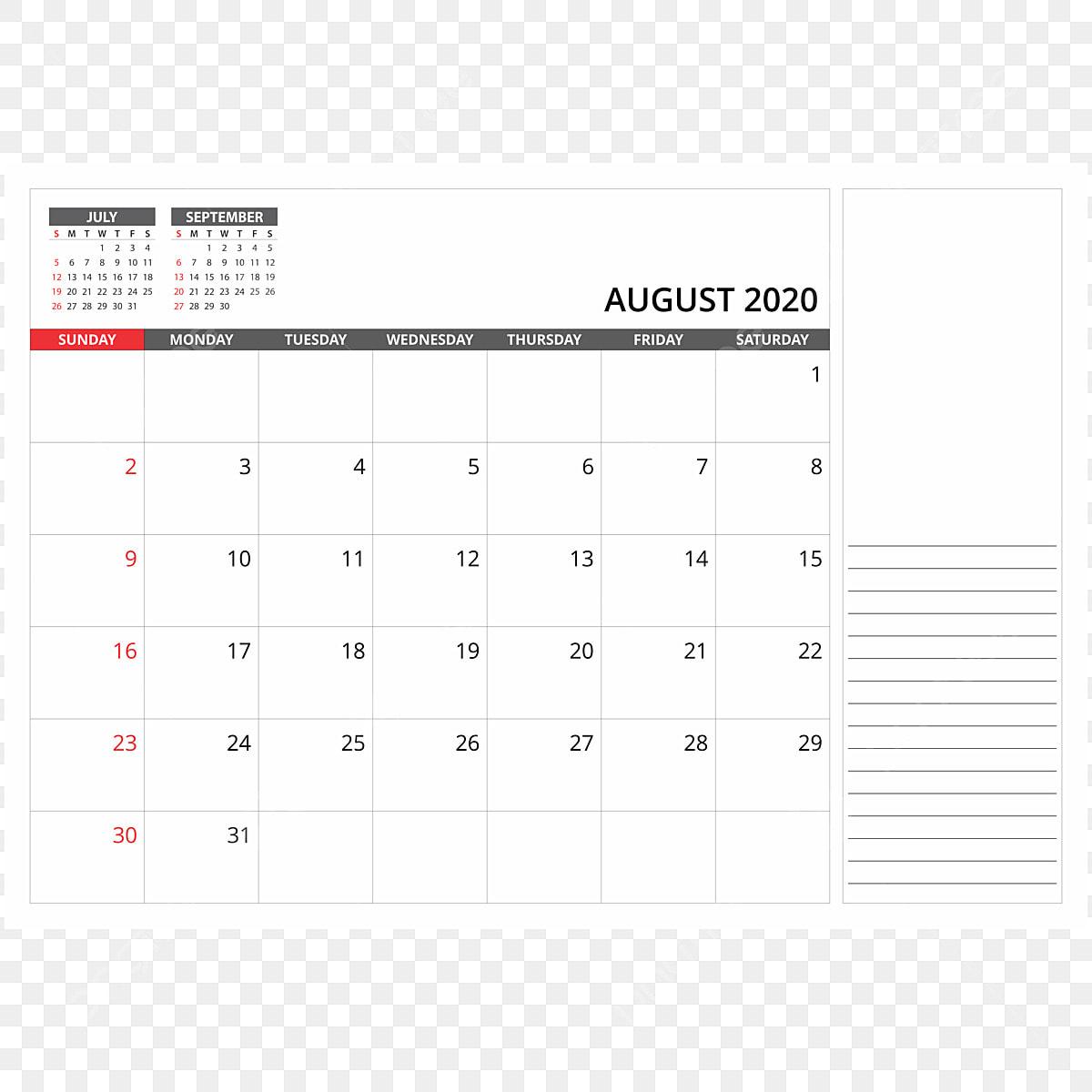 Calendrier Aout 2020.Calendrier Mensuel Du Mois D Aout 2020 2020 Calendrier La