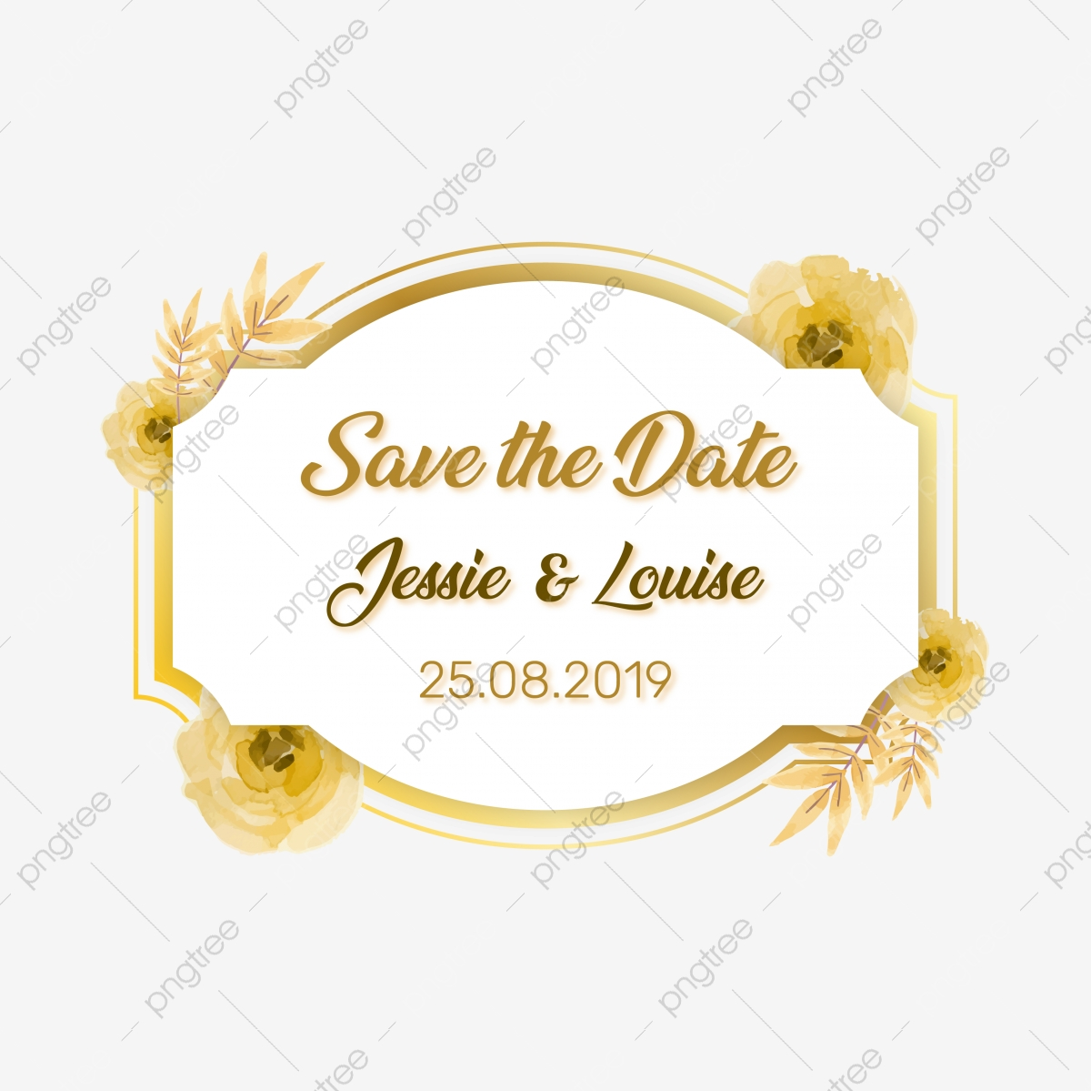 Beautiful Classic Save The Date Wedding Invitation Vector Beauty Line Art Png And Vector With Transparent Background For Free Download