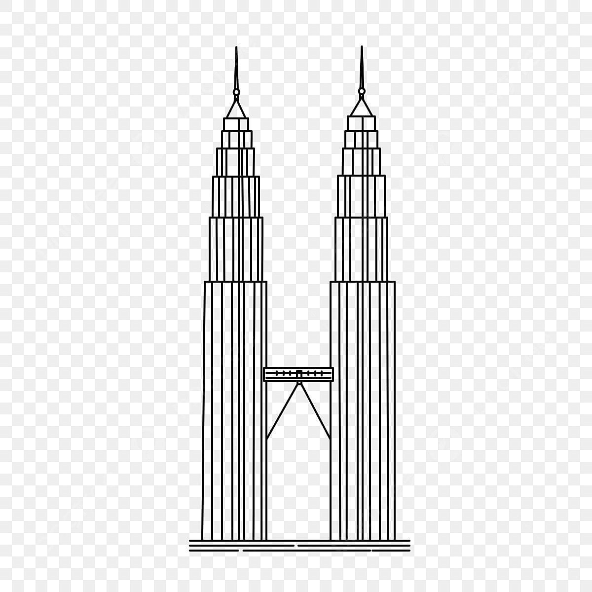 Gambar Hitam Minimalis Petronas Kembar Klcc Menara Hitam Minimalis Vektor Png Dan Psd Untuk Muat Turun Percuma