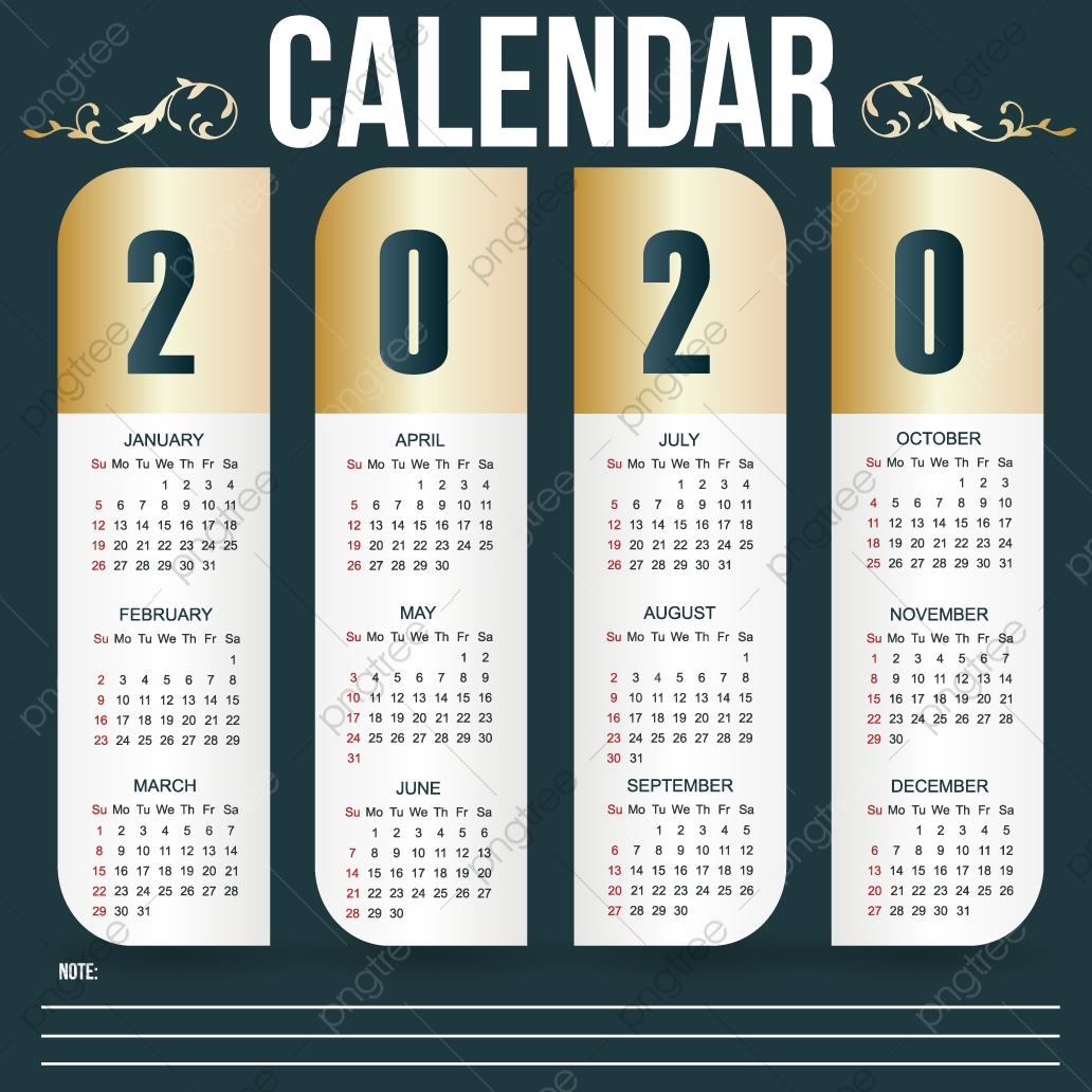 Coin Show Calendar 2020.Calendar 2020 Gold 2020 Calendar Gold Png And Vector With