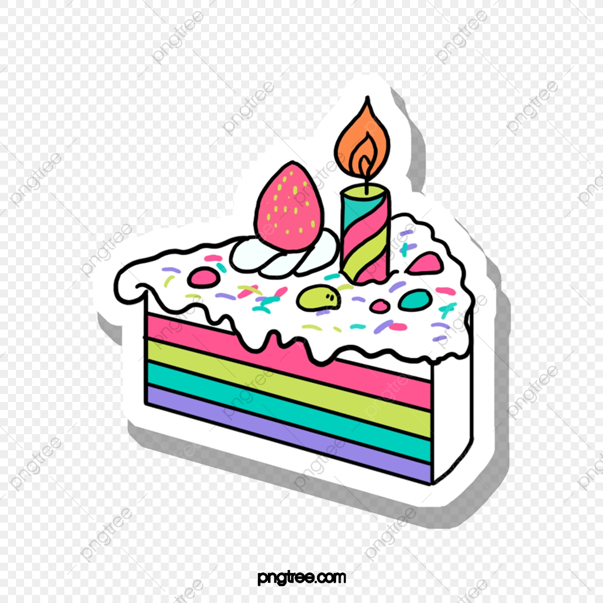 Wondrous Candle On Triangle Birthday Cake Color Triangle Cake Png Personalised Birthday Cards Cominlily Jamesorg