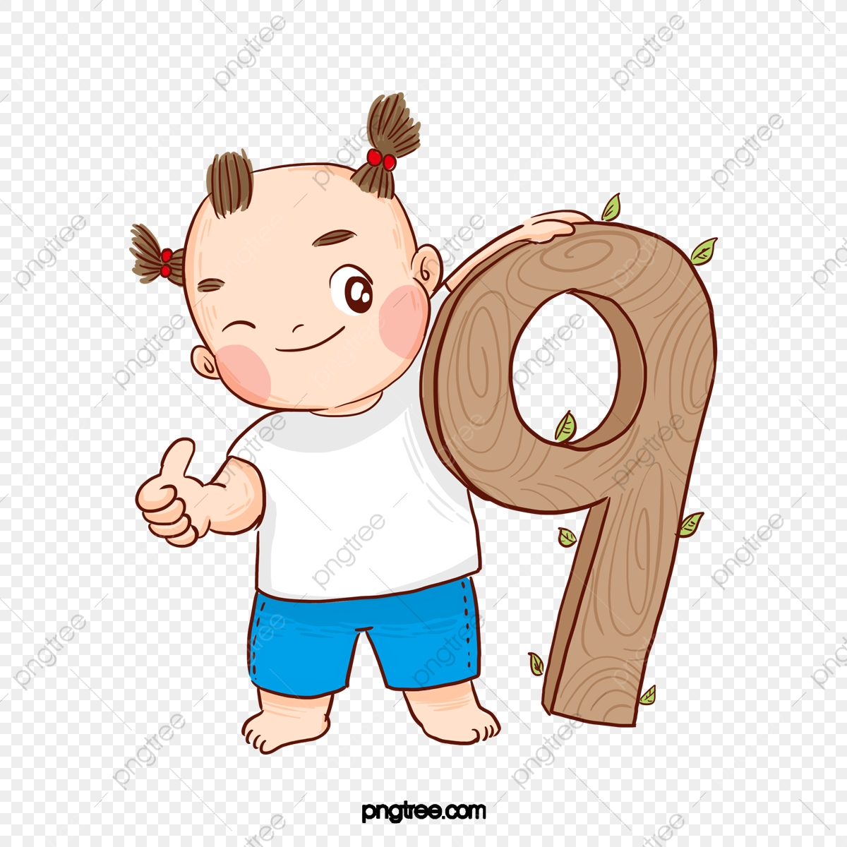Cartoon Cute Big Eyes Boy Number 9 Cartoon Lovely Big Eyes Png