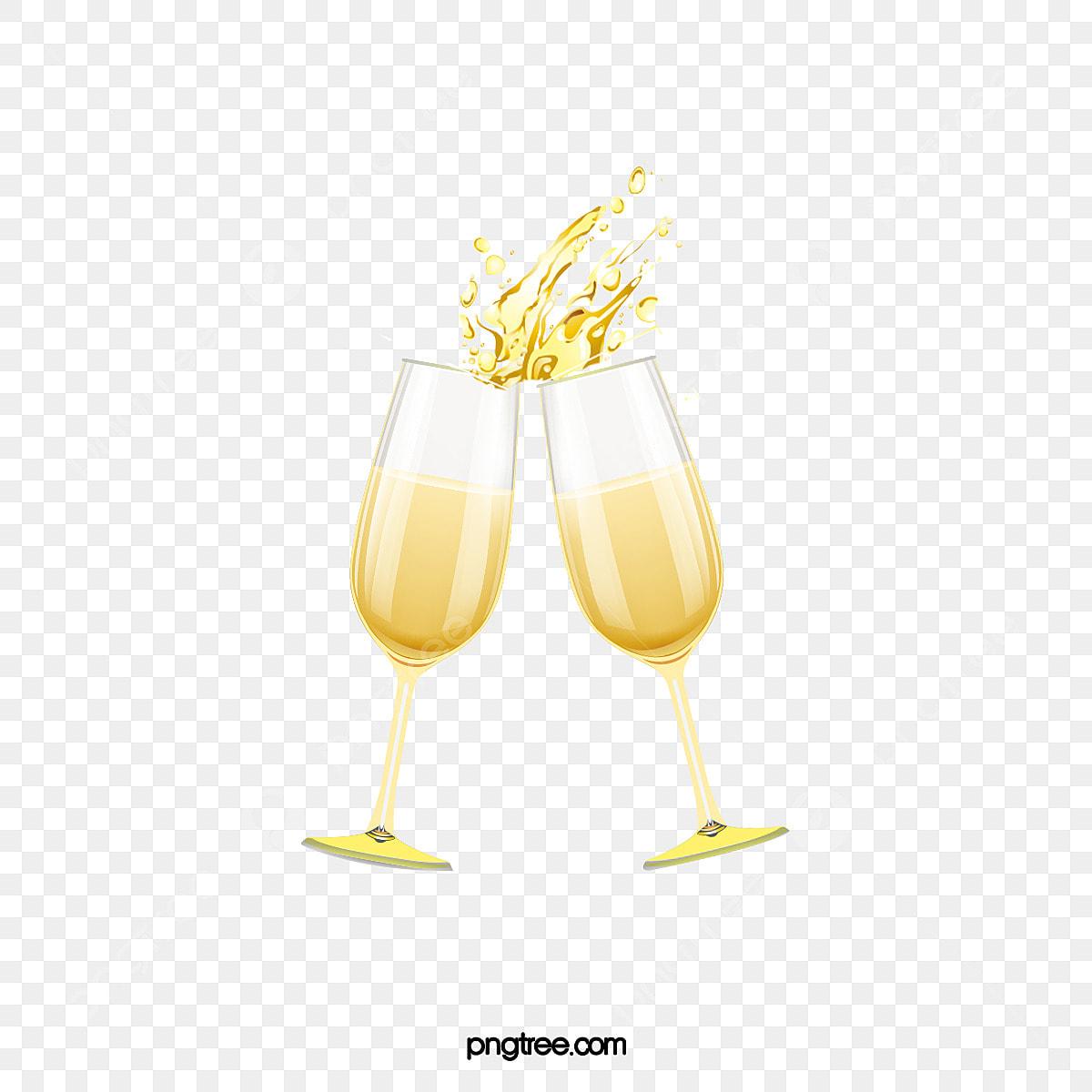 Dessin Anime Delicate Illustration De Verre De Champagne Coupe De Champagne Jaune Vin Fichier Png Et Psd Pour Le Telechargement Libre