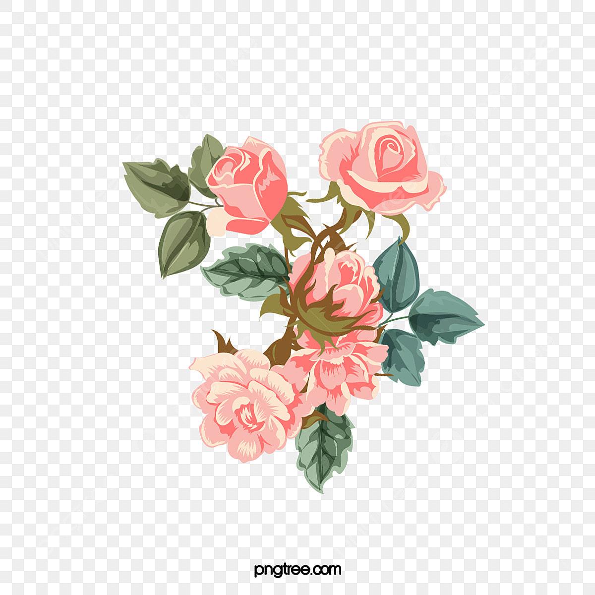 Mao De Desenho Animado Desenhado Ilustracao Delicada De Flores
