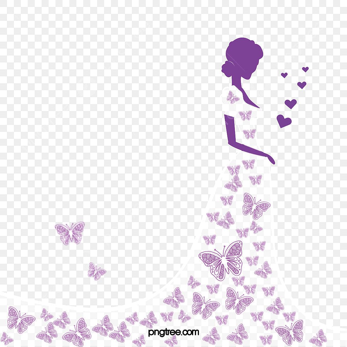 漫画の手描きのバタフライドレス ウェディング 女性イラスト バタフライ スカート ウェディングドレス画像とpsd素材ファイルの無料 ダウンロード Pngtree