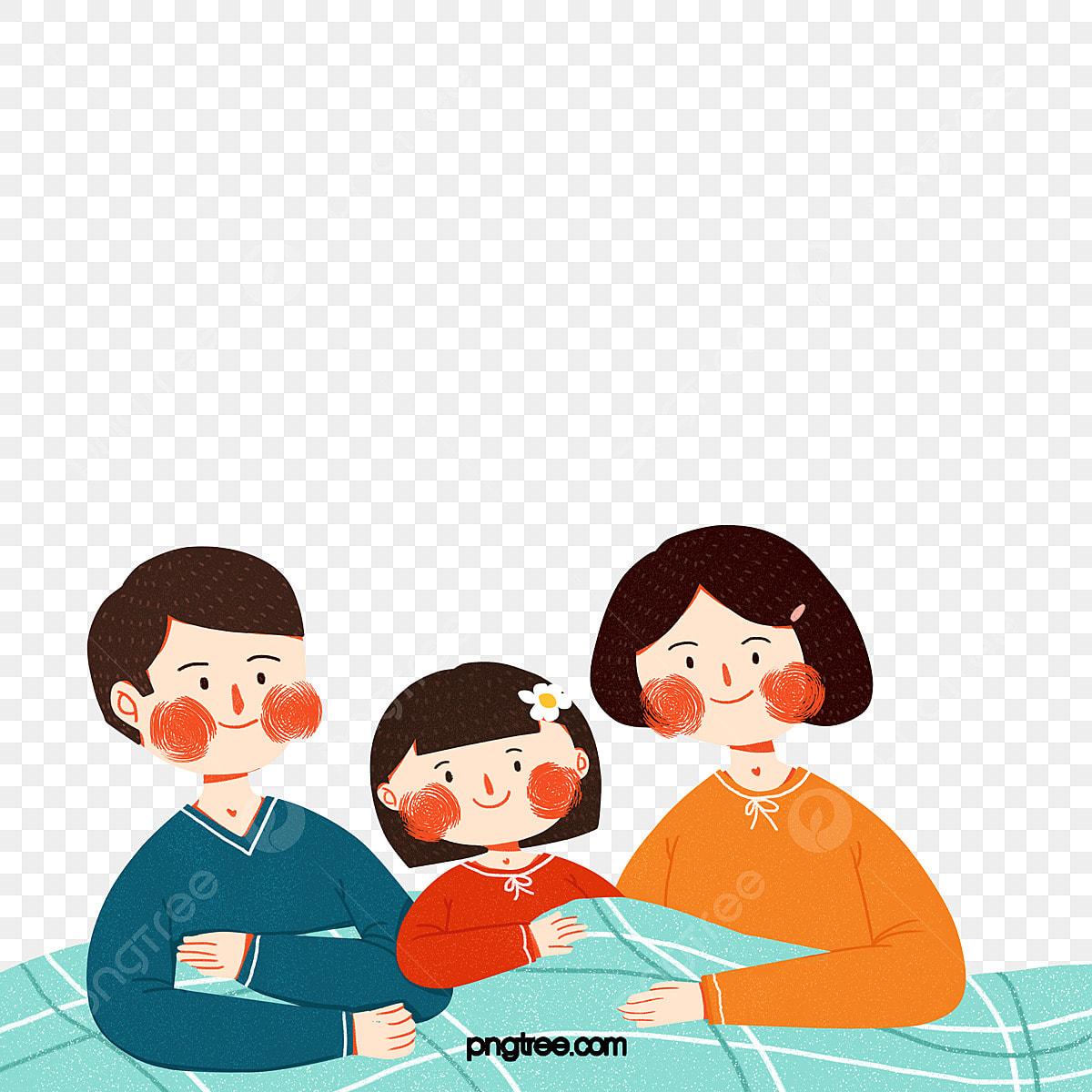 Gambar Ibu Dan Ayah Kartun Duduk Di Atas Katil Ayah Ibu Kanak Kanak Png Dan Psd Untuk Muat Turun Percuma