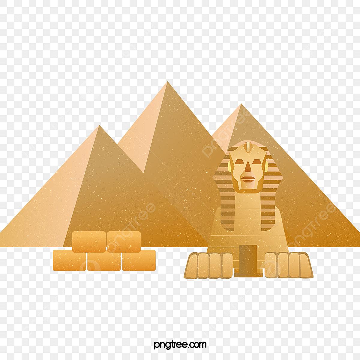 Ilustracao De Esfinge Piramide Dos Desenhos Animados O Leao A