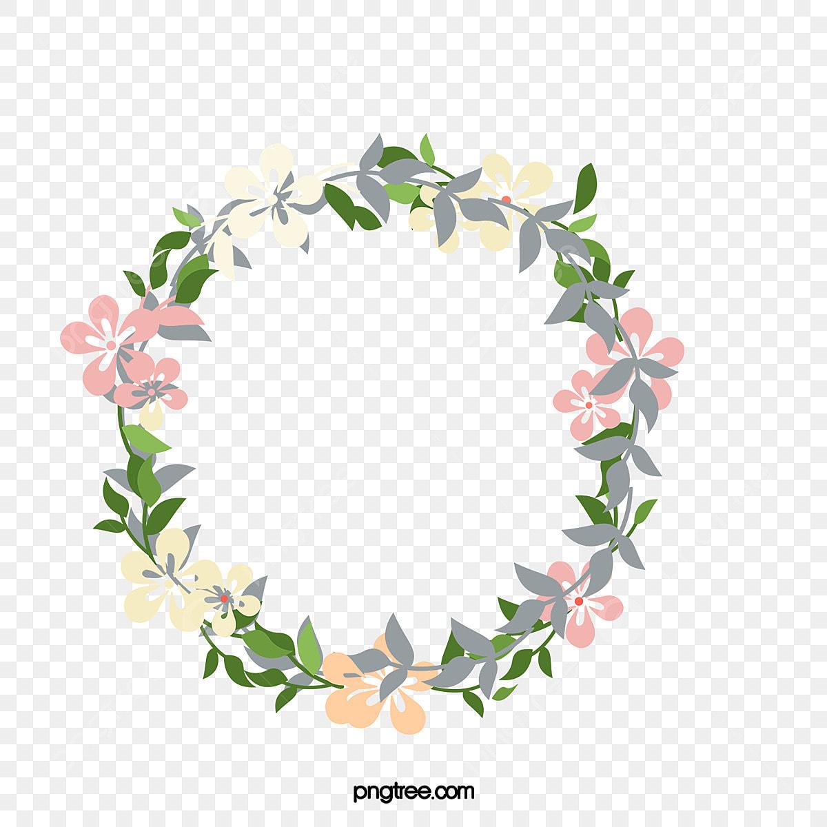 漫画リースかわいいイラスト 花輪 かわいい 質感画像とpsd
