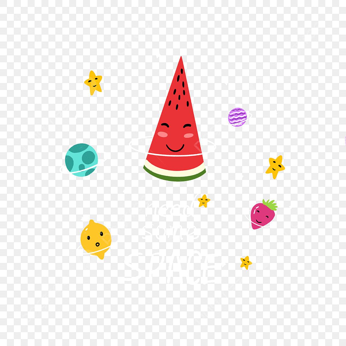 Ilustracao Colorida Dos Elementos Da Galaxia Do Gourmet Da Fruta