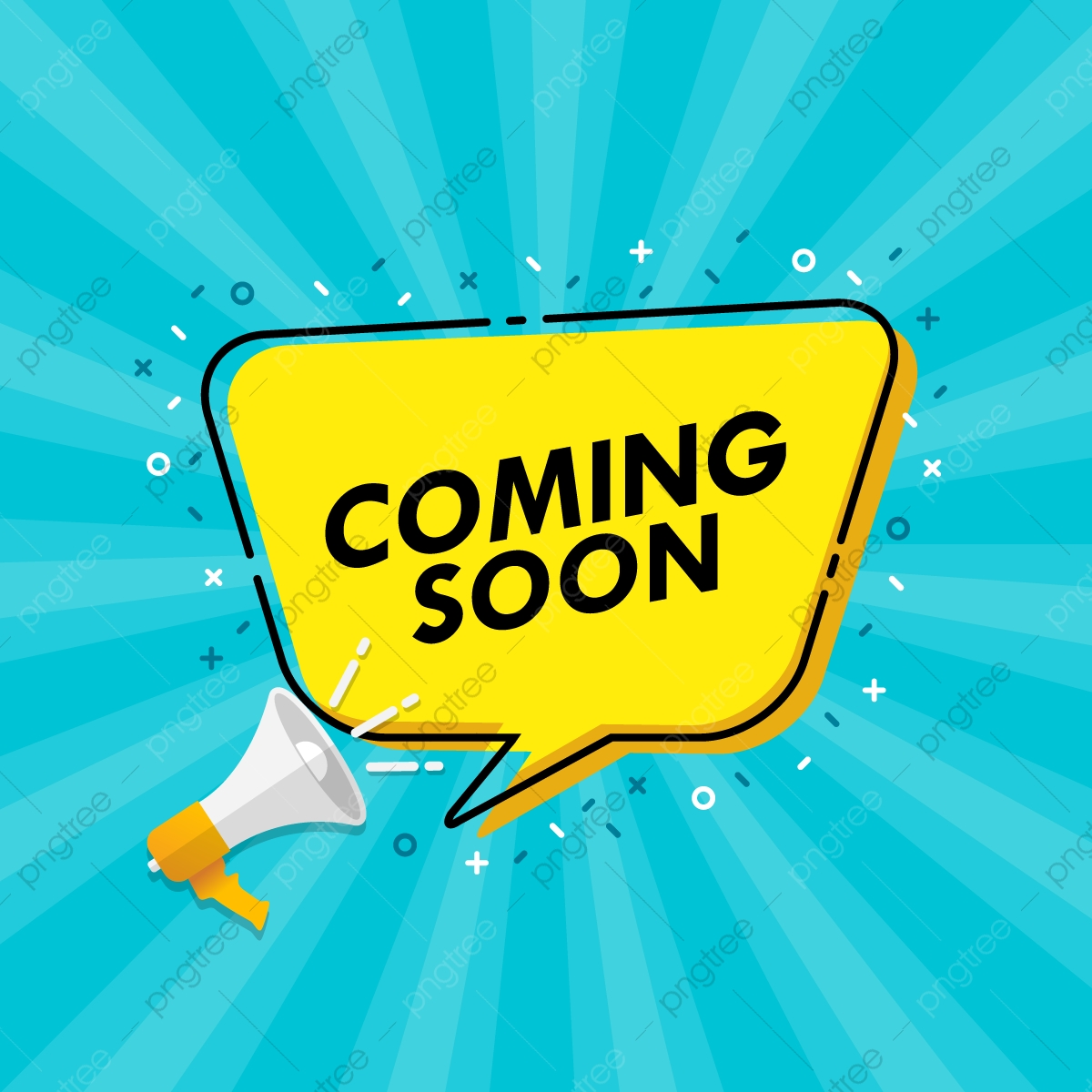 Coming Soon Banner With Megaphone And Speech Bubble Backgrounds Speech Bubble Png And Vector With Transparent Background For Free Download