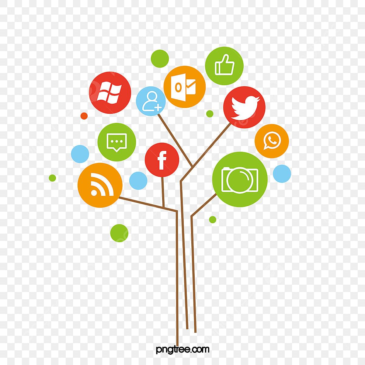 Common Social Tree Diagram Software Icon Collection Social
