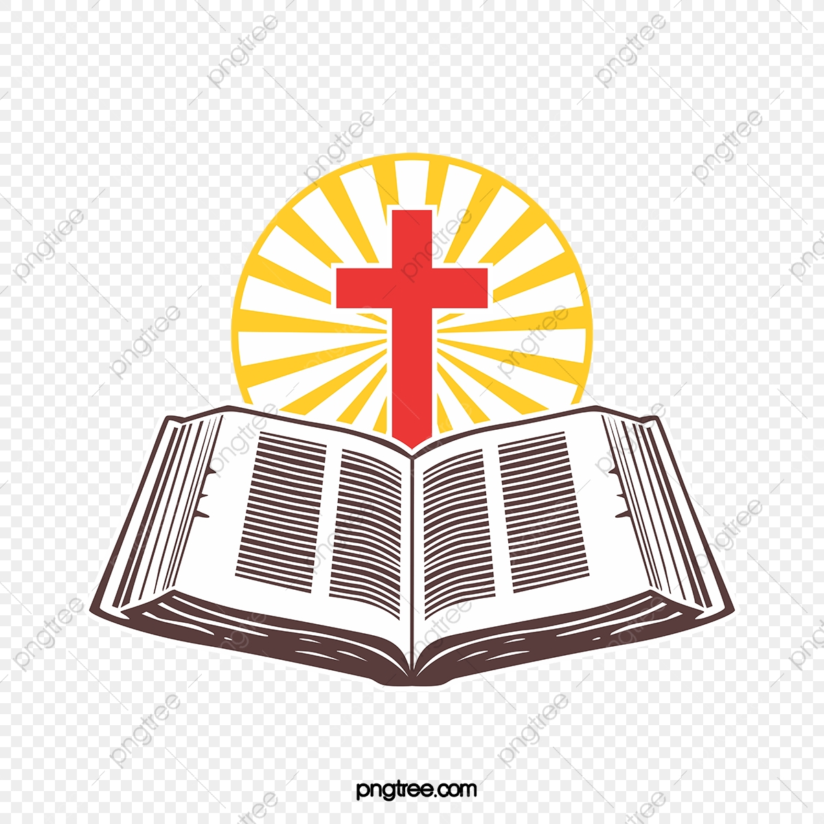 Cross And Spread Bible Bible Cross Light PNG And Vector